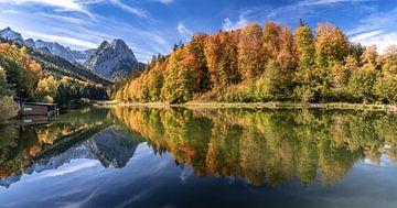 Herfst aan de Riessersee van Achim Thomae