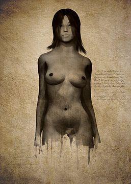 Nackte Frau - Naomi nackt in Front stehen von Jan Keteleer