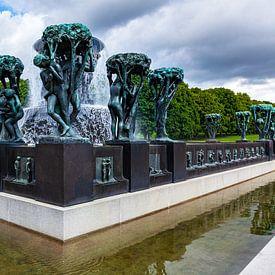 Fontein in Vigeland park, Oslo van Evert Jan Luchies