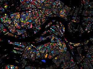 Carte Colorée de Rotterdam