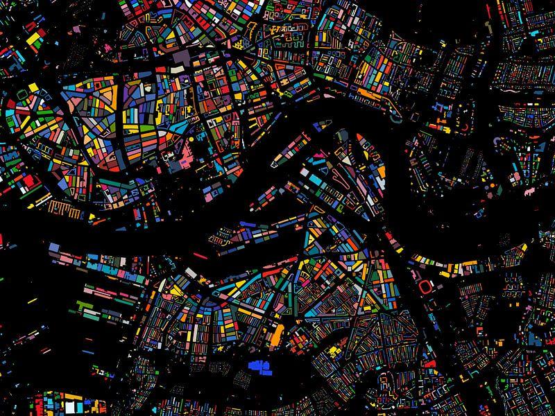 Kleurenkaart Rotterdam van Frans Blok