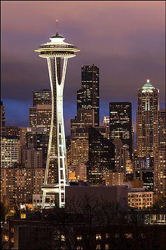 Seattle by Night von Pictur eyes