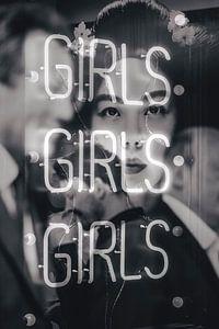 Girls, Japanse foto van een vrouw in een spiegel van