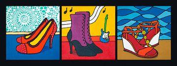 Folle de chaussures sur Lida Bruinen