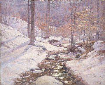 T C. Steele (Amerikaner, 1847-1926)~Winterliches Sonnenlicht
