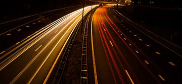 Lijnenspel op de snelweg  van