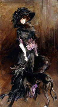 Portrait der Marchesa Luisa Casati mit einem Windhund, Giovanni Boldini