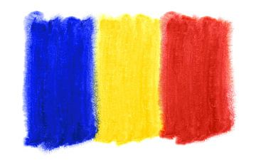 Symbolische nationale vlag van Roemenië van Achim Prill
