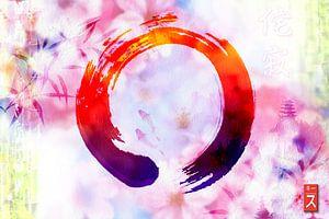 Zen cirkel Enso Wabi-sabi van