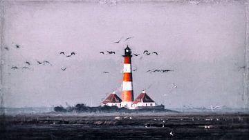 Leuchtturm an der Nordsee von Heiko Westphalen
