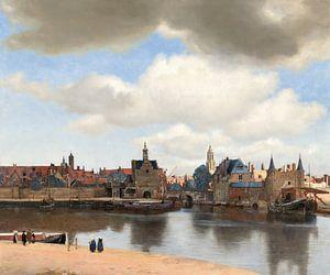 Gezicht op Delft van Vermeer van