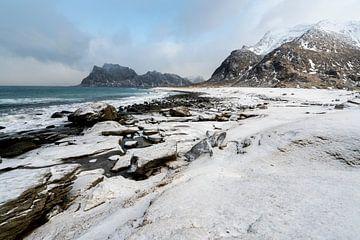 Uttakleiv Beach Lofoten van Ab Wubben