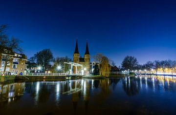 Das östliche Tor von Delft bei Nacht, die Niederlande von Gea Gaetani d'Aragona