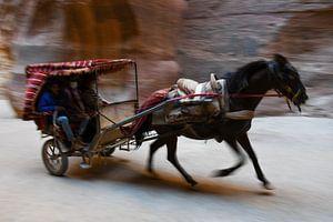 Paardenkoets in Jordanië van Robert Styppa