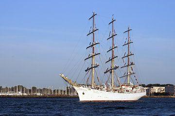 Volle schip Dar Mlodziezy van Ingo Rasch