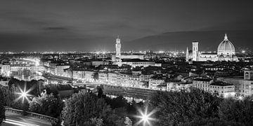 Uitzicht over Florence, gezien vanuit Piazzale Michelangelo van Henk Meijer Photography