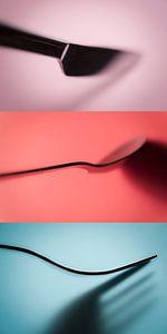 serie Cutlery (bestek, drie-luik) sur Kristian Hoekman