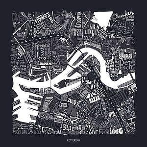 Karte von Rotterdam centrum mit Straßennamen von
