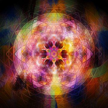 Mandala in Regenbogen Farben von Sabine Wagner