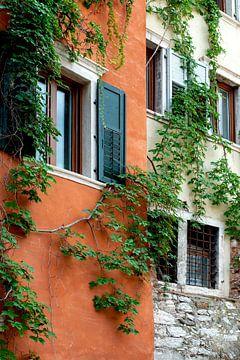 Orangene Fassade in Trento von Hanneke Luit