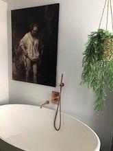 Kundenfoto: Badende Frau, Rembrandt van Rijn, auf leinwand