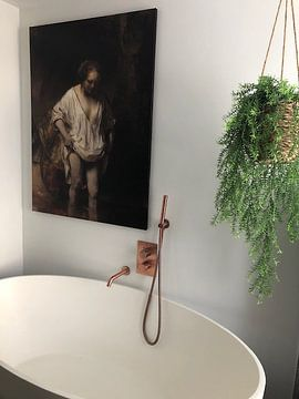 Kundenfoto: Badende Frau, Rembrandt van Rijn