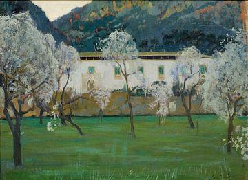Santiago Rusiñol Weißes Bauernhaus (Bunyola, Mallorca)