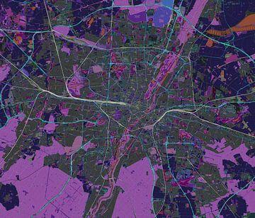 Kaart van Munchen in negatief van Atelier Liesjes