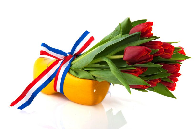 Hollandse klomp met tulpen van Ivonne Wierink
