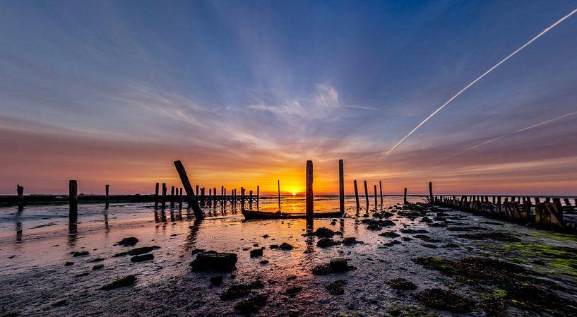 Haven van Sil Zonsopkomst Texel van Texel360Fotografie Richard Heerschap