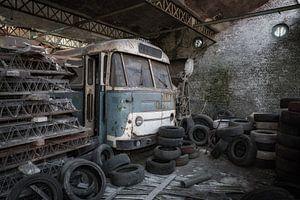 Dieser alte Bus wartet auf seinen Besitzer