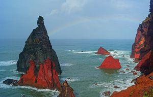 Regenboog bij Ponta de São Lourenço, Madeira
