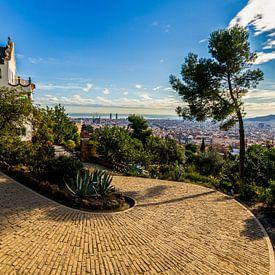 La Casa Trias à Park Güell à Barcelone sur MS Fotografie | Marc van der Stelt