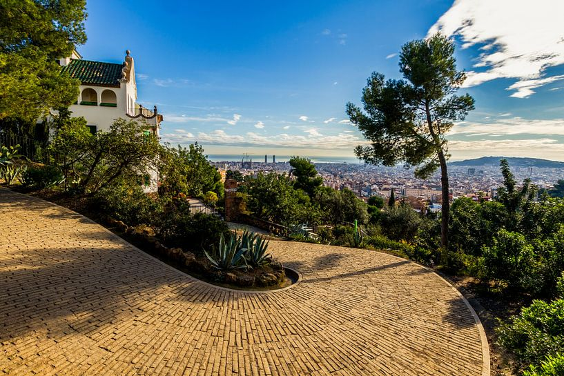 La Casa Trias in Park Güell in Barcelona van MS Fotografie | Marc van der Stelt