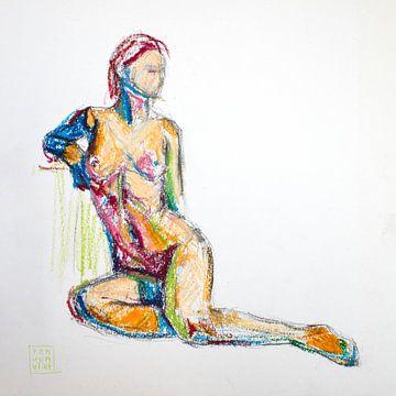 femme assise sur Ron van Vliet