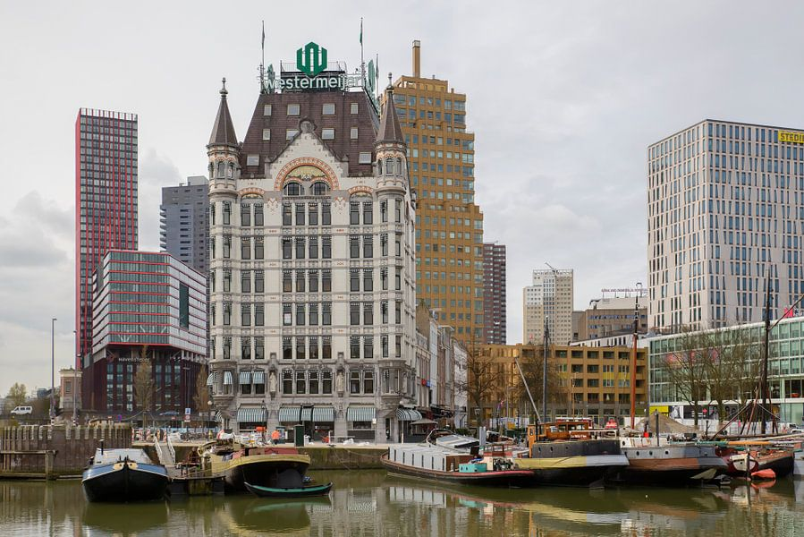 Het Witte Huis en de Oude Haven in Rotterdam.