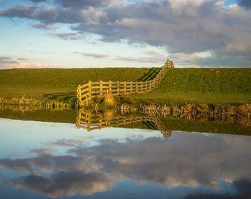 Gespiegelte Landschaft von Roelof Nijholt