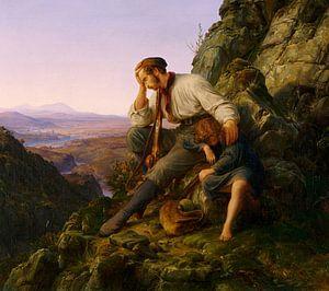 Karl Friedrich Lessing.Der Dieb und sein Kind