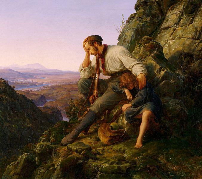 Karl Friedrich Lessing.Der Dieb und sein Kind von 1000 Schilderijen