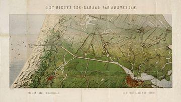 Karte Nordsee-Nadel - 1866