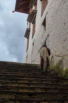 Bhutaan in klederdracht van