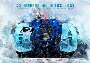 Le Mans winnaar 1937 van Theodor Decker