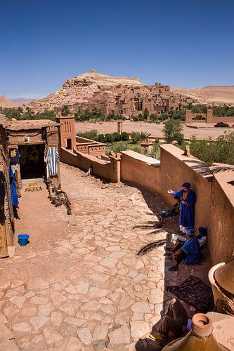 De Aít-Ben-Haddou bij Ouarzazate in Marokko van