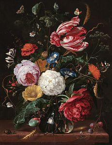 Stilleven met bloemen in een glazen vaas, Jan Davidsz. de Heem van