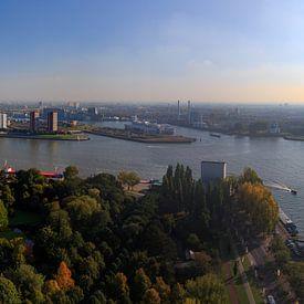 Panorama Rotterdam Nieuwe Maas - herfst van Remco Bosshard