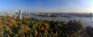 Panorama Rotterdam Nieuwe Maas - herfst
