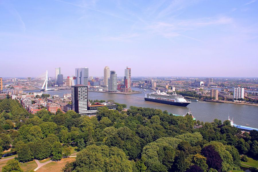 Rotterdam Skyline van Marcel Moonen Visuals