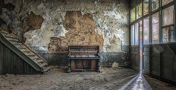 Zimmer mit Klavier von Marian van der Kallen Fotografie