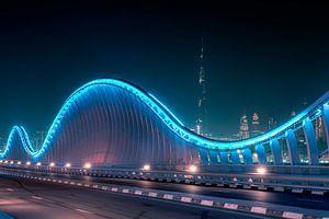 Meydan Bridge Beyond Burj Khalifa van