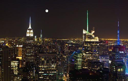 New York vanaf Top of the Rock in kleur van